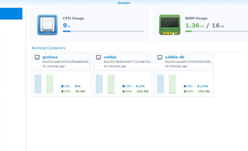 Synology Docker interface